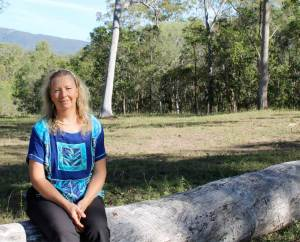 Author Julie McCullough portrait in bush setting